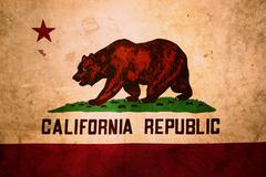 Closeup of grunge California flag Stock Illustration