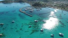 Saint Martin Marigot Aerial view Stock Footage