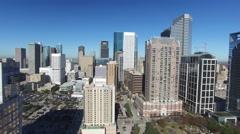 Downtown Houston Aerial Stock Footage