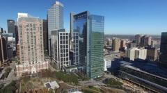 Downtown Houston drone shot Stock Footage