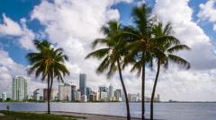 Miami, Florida, USA Skyline Time Lapse Arkistovideo