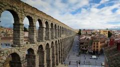 Segovia Spain Aqueduct - stock footage