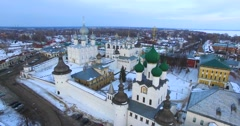 Kremlin that is situated in Rostov the Great, ancient russian town. Stock Footage