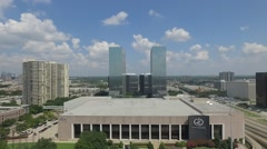 Aerial of Greenway Plaza Houston, TX Stock Footage
