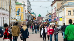 People in Nizhny Novgorod Stock Footage