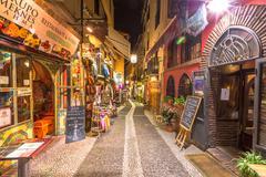 Albaicin Granada by night - stock photo