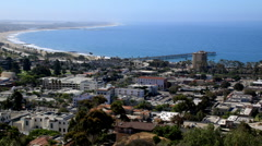 Ventura California - Downtown and pier time lapse Stock Footage