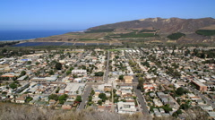 Ventura California - Northwest view of lagoon and fields time lapse Stock Footage