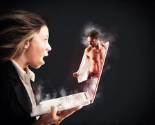 Stripper on web Stock Photos