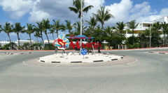 Welcome to Sint Maarten greeting Maho Stock Footage