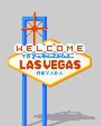 8 Bit Vegas Sign Piirros