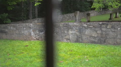 Old Graveyard Inside Church Stock Footage