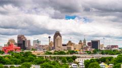 San Antonio, Texas Skyline Stock Footage