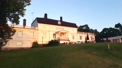 RAASEPORI, UUSIMAA, FINLAND, JUNE 5 Nordcenter, aminnegard mansion, at a golf Stock Footage