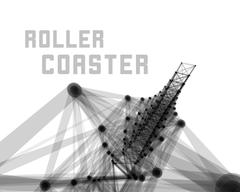 Roller coaster vector illustration Stock Illustration