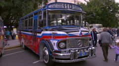 Key model of the 1980´s Argentinian Urban Bus public transportation Stock Footage