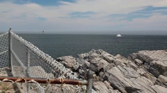Sea view from Portland Head Light Stock Footage