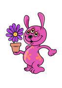 Mutant Rabbit Stock Illustration