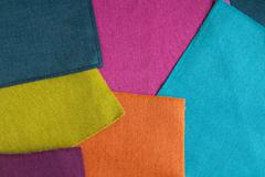 background bright colored textiles - stock photo