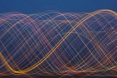 Abstract colored light trail background Stock Photos
