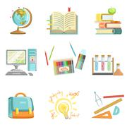 School Education And Studies Related Illustrations - stock illustration