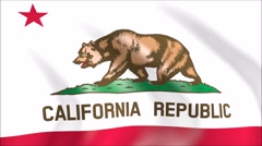 Flag of California with gold embossed Stock Footage