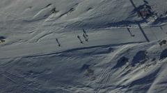 Tough Greenland - adventurous skiing race Stock Footage