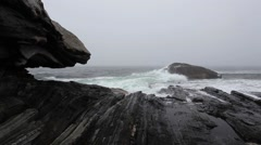 Dramatic Pemaquid Point Stock Footage
