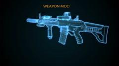 Riffle Weapon Model Animated Stock Footage