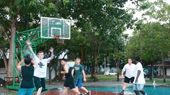Three point jumpshot miss Stock Footage