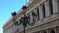 Beautiful Doge´s Palace in the city of Venice San Marco - Palazzo Ducale Stock Footage