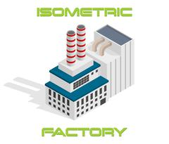 Vector isometric modern industrial and manufacturing factory building icon Piirros