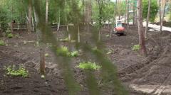 Excavator digging bucket Stock Footage