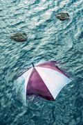 Escape the bad weather, vacation concept.  Stock Photos