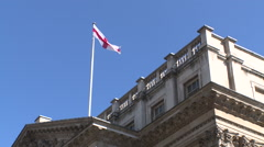Royal Exchange building with flag Stock Footage