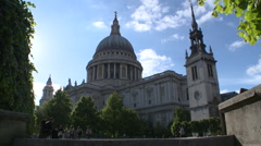 St Paul's Cathedral London Stock Footage
