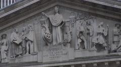 The Royal Exchange fresco Stock Footage