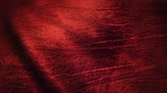 Red silk fabric blowing in the wind Stock Footage