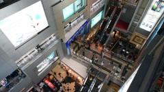 Interior MBK shopping center in Bangkok downtown - stock footage