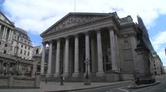 Bank of England & Royal Exchange Stock Footage