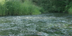 Slow motion river rapids handheld, RED 4K Stock Footage