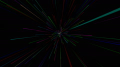 Retro style colorful spark streaks animation Stock Footage