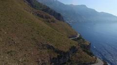 Aerial View of Amalfi Coast, Italy Stock Footage