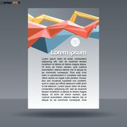 Abstract print A4 design with colored lines for flyers, banners or posters, w Stock Illustration