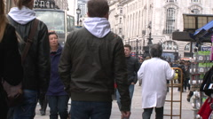 Busy London street Stock Footage