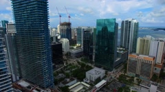 AERIAL - View of buildings in Miami - Construction Stock Footage