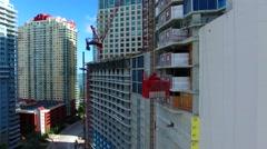 AERIAL - Building construction elevator  Stock Footage