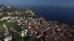 Aerial View of Sorrento, Italy Stock Footage