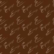 Vector illustration of seamless coffee pattern. Espresso coffee - stock illustration