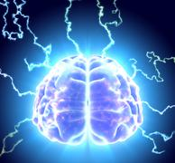 3D illustration of conceptual brain storm. Stock Illustration
